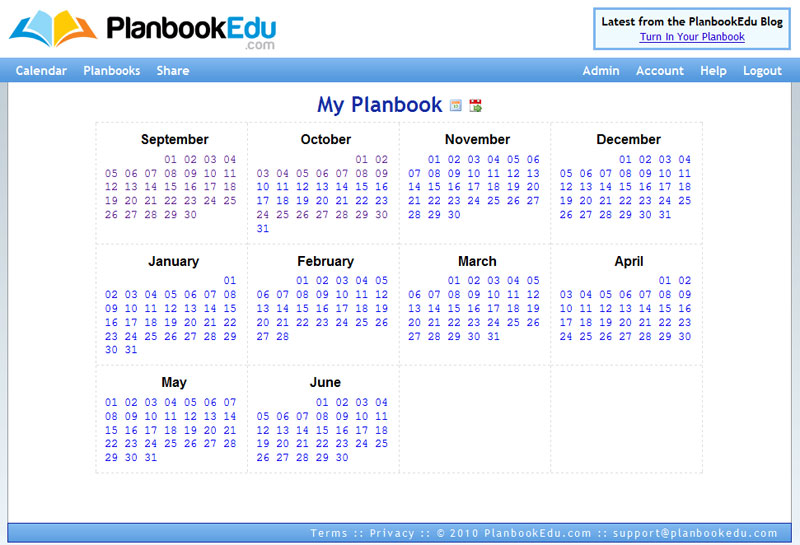 Free online lesson planbook software for teachers for Planbook login
